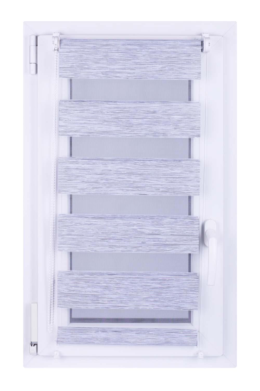 Roleta DEN&NOC Wood 42 x 150cm bílo šedá  č. BH67 Macher