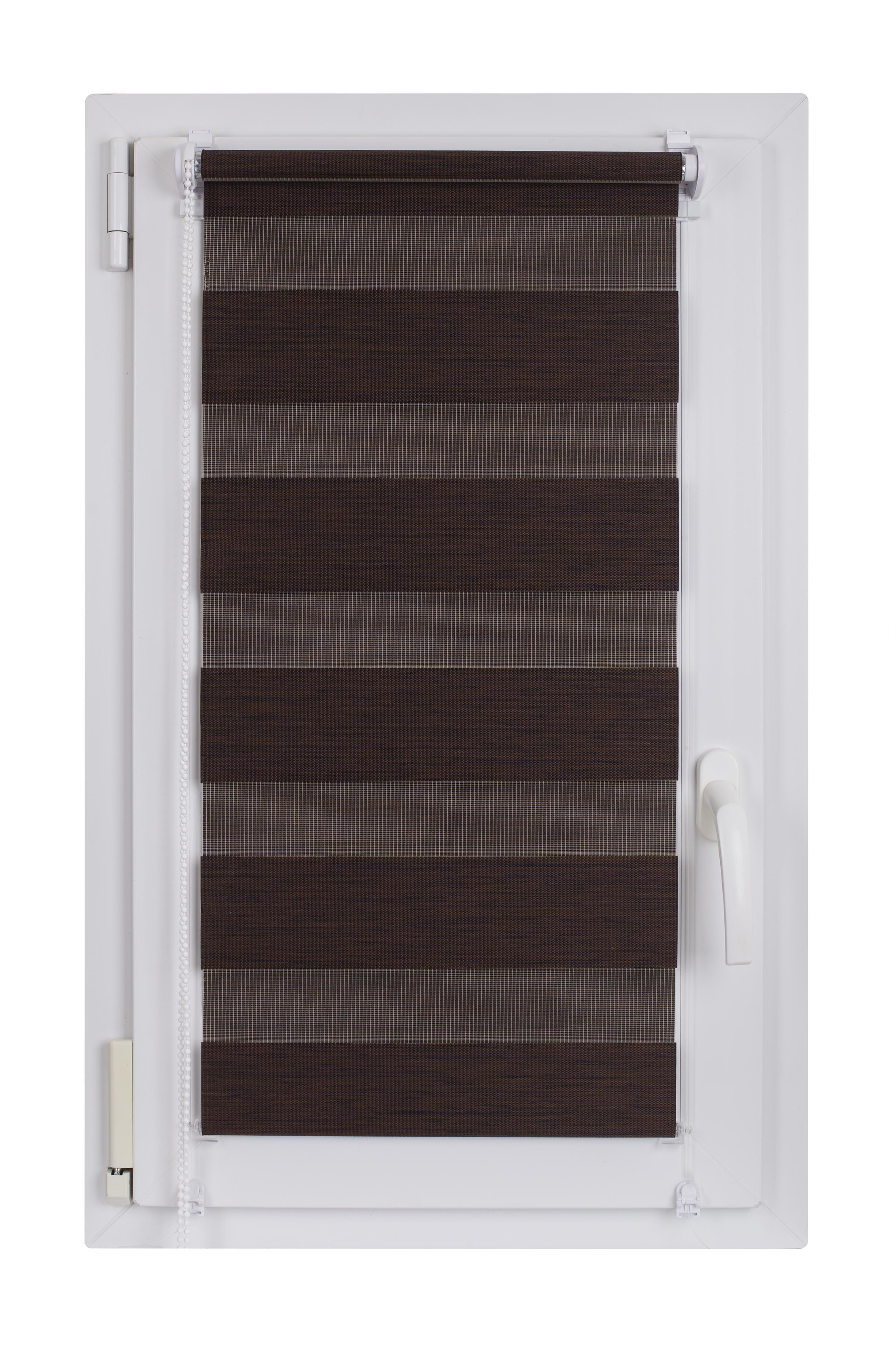 Roleta DEN&NOC Wood 42 x 150cm tmavě hnědá  č. BH66 Macher