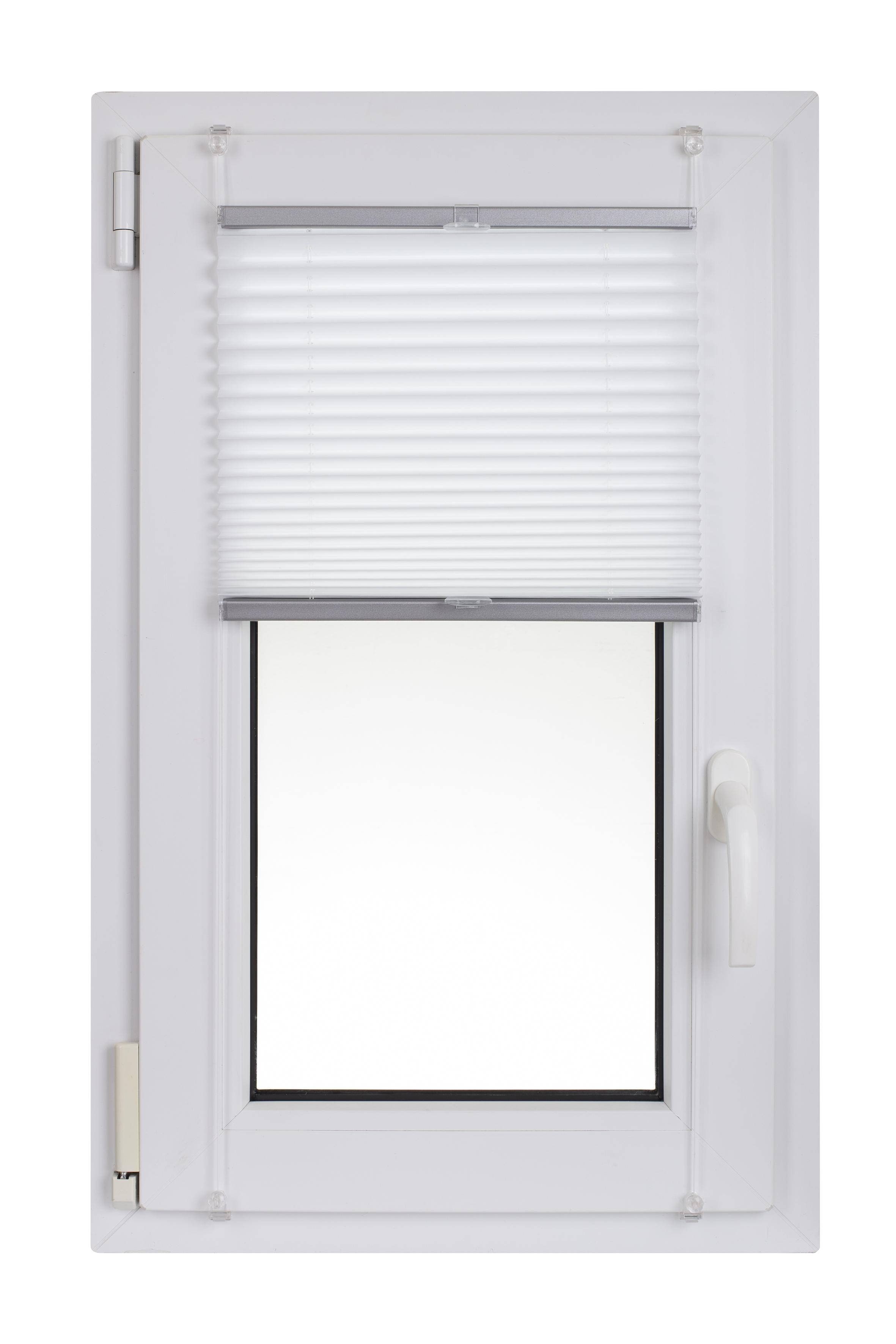 Žuluzie plisé 42x150 cm bílá 116