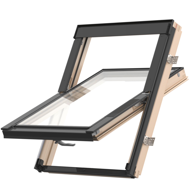 Střešní okno KEYLITE EASY BW T 01 kyvné 55x78 cm dřevo lak 2-skloThermal