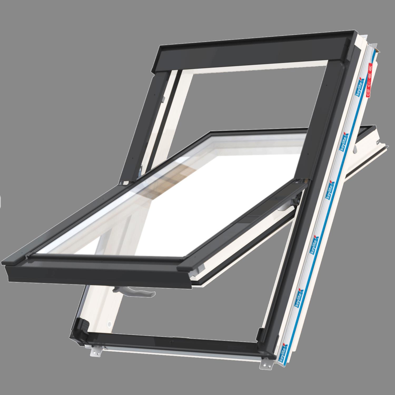 Střešní okno FLICK FIT WFCP T FF 01C kyvné 55x118 cm dřevo bílá barva2-sklo Thermal