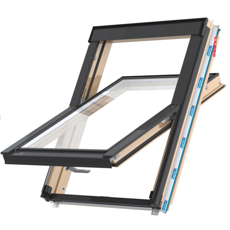 Střešní okno FLICK FIT CP ATG FF01C kyvné 55x118 cm  dřevo lak 3-sklo Argon