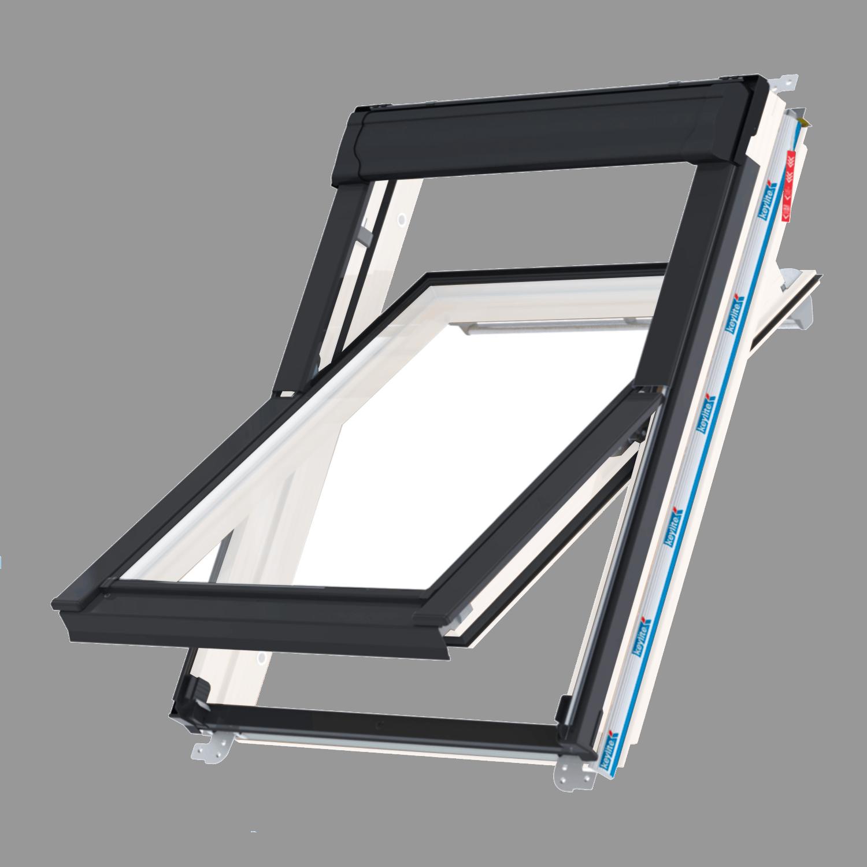 Střešní okno KEYLITE WCP T01C kyvné 55x118 cm  dřevo bílá barva  2-sklo  Thermal