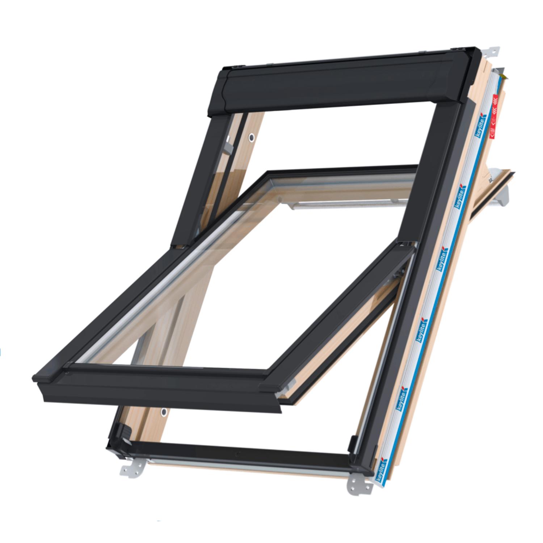 Střešní okno KEYLITE PROFESIONAL CP T FF01C kyvné 55x118 cm dřevo lak 2-sklo Thermal