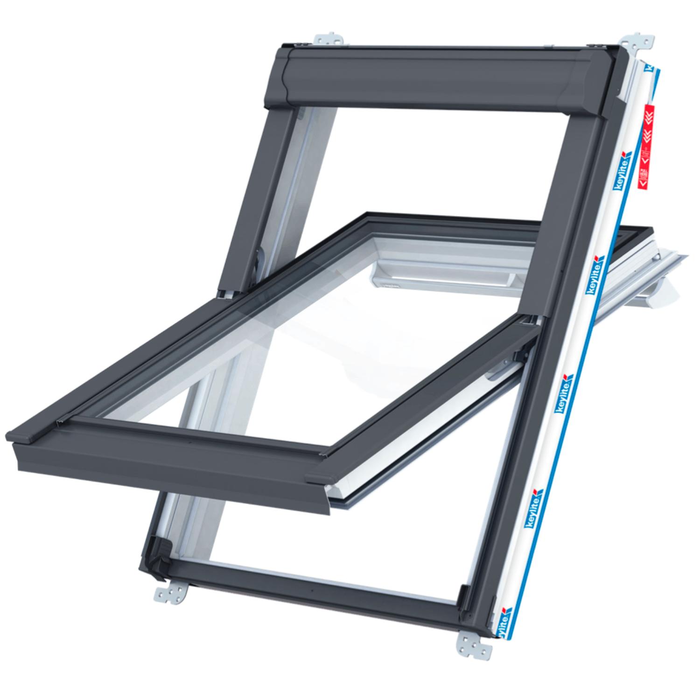 Střešní okno KEYLITE PCP T 01C kyvné  55x118 cm  PVC bílé  2-sklo  Thermal