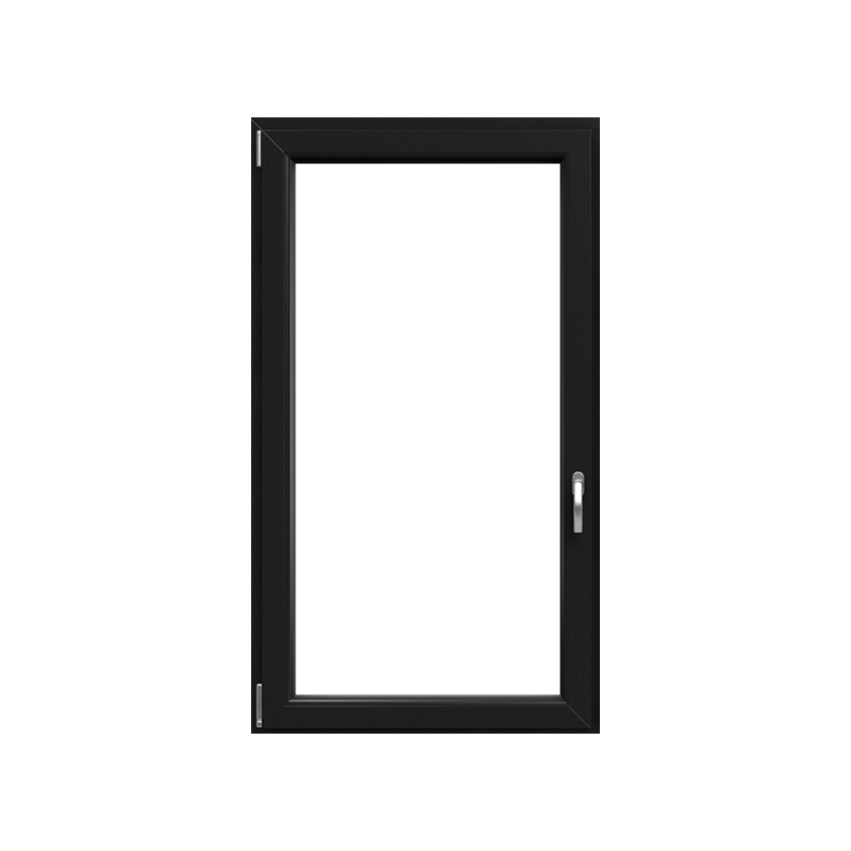 Okno plastové IGLO 5 bílé/antracit, OS1A 60x60 L, dvojsklo, 5kom/70mm (vč. Kliky)