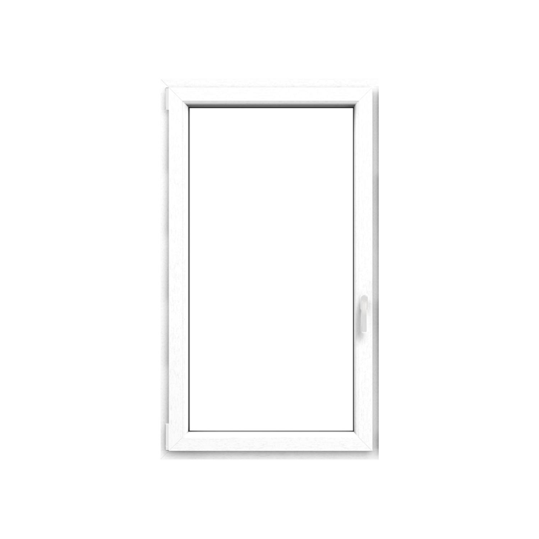 Okno plastové IGLO5, bílé, OS1A, 50x50cm L, 3 sklo, 5 kom/70mm (vč.kliky) Uw 0,96