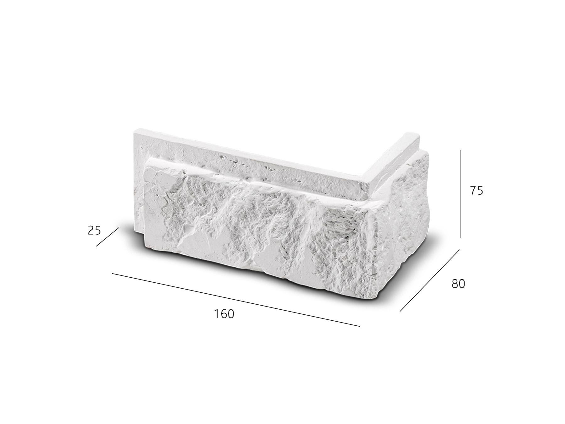 ROH Cihlový obklad se spárou BOTIN bílá 160x80x75x25 mm Sádra  balení 0,75bm