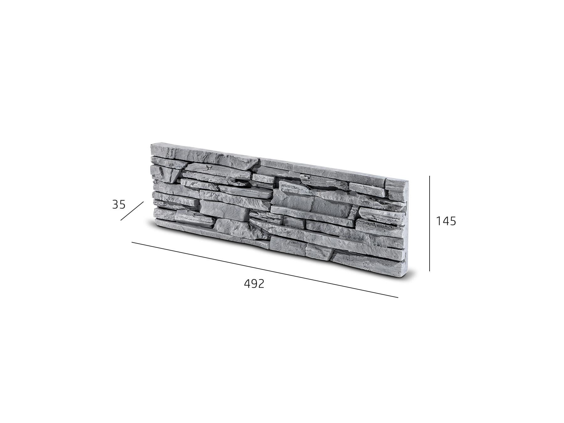 Kamenný obklad CUBANA grafit 492x145x35 mm Beton balení 0,43m2