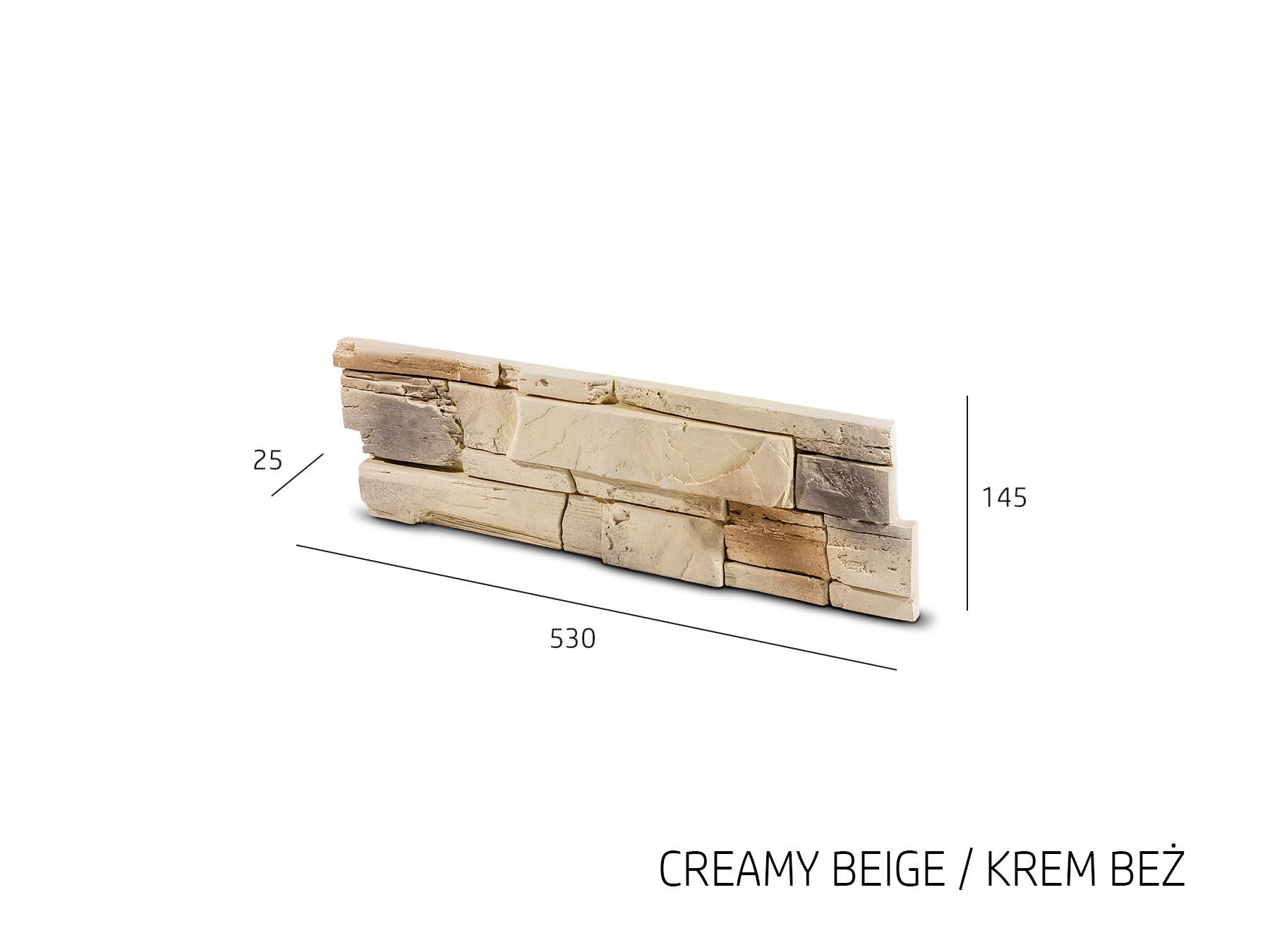 Obkladový kámen TENABO béžová 530x145x25 mm Sádra balení 0,46m2