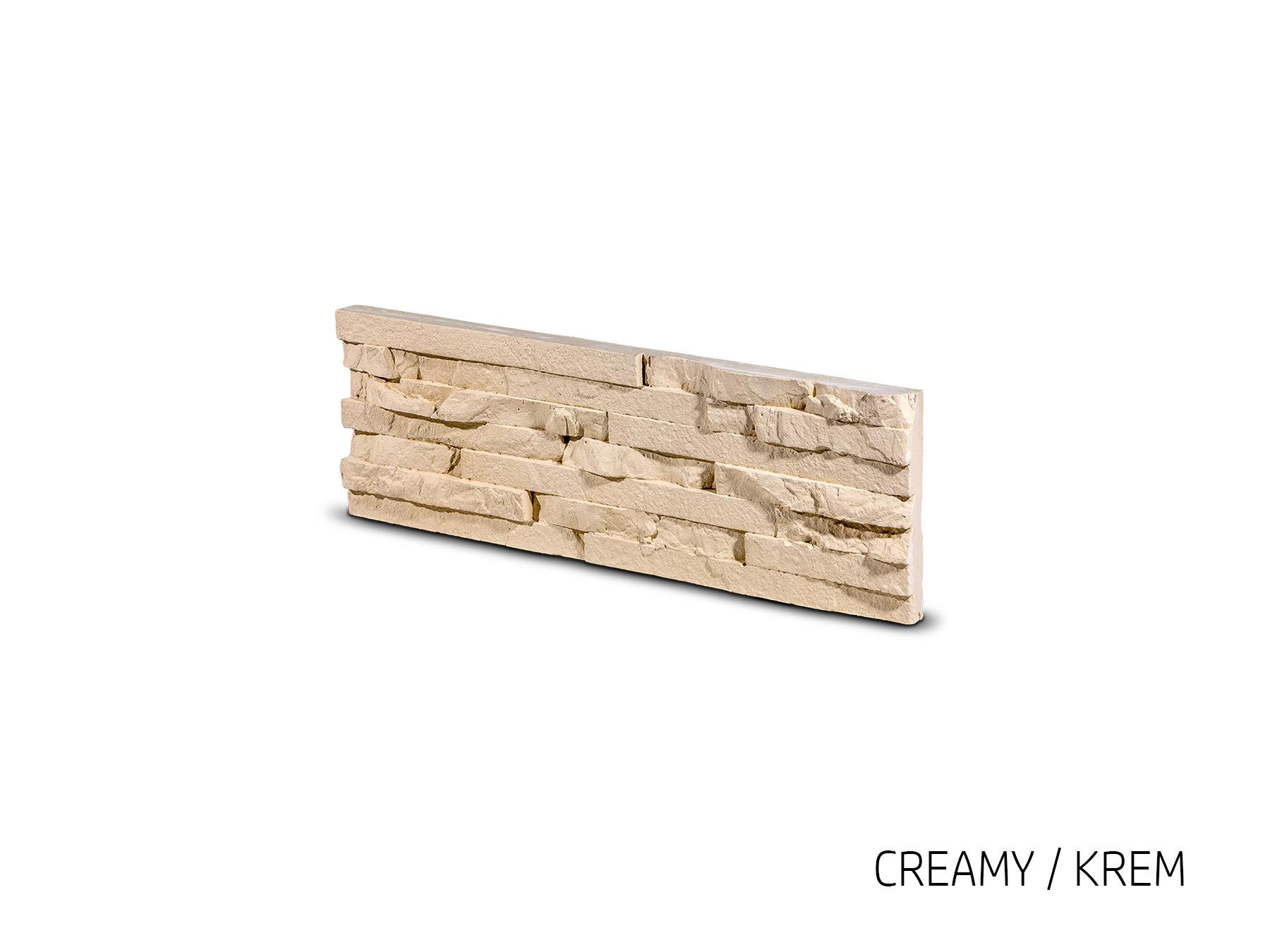 Obkladový kámen TEPIC krémová 495x145x25 mm Sádra balení 0,43m2