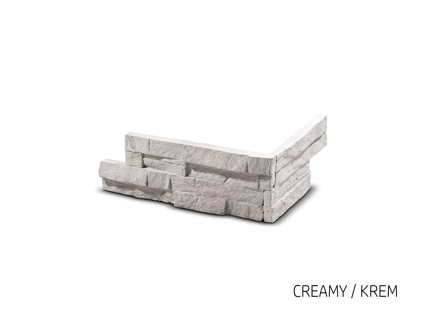 ROH Obkladový kámen VERTIGO krémová 285x155x100x25 mm Beton balení 1bm