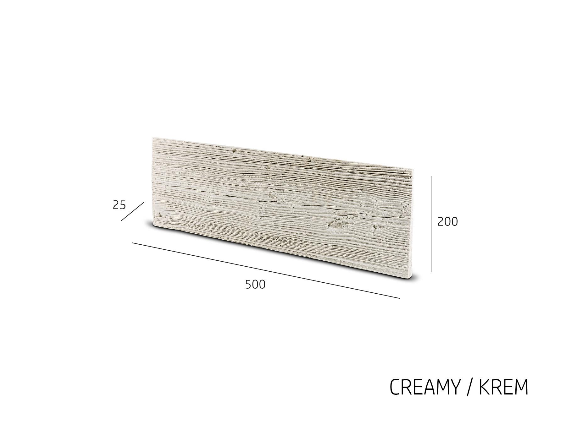 Obkladový kámen WOKAM dřevěný dekor krémová 500x200x25 mm Beton balení 0,6m2